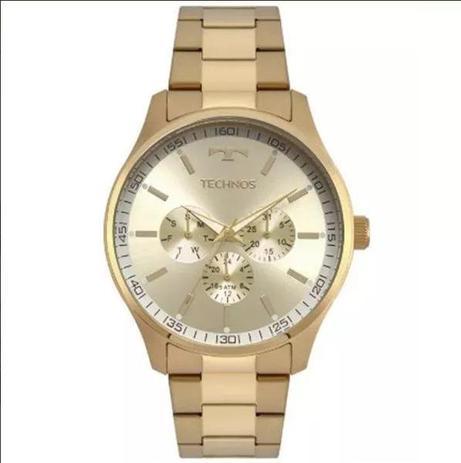 a6b3b402bc3 Relógio Masculino Technos 6P29AJN 4X 44mm Aço Dourado - Relógio ...
