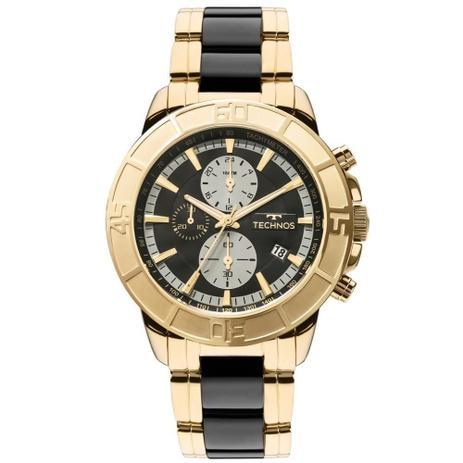 Relógio Masculino Technos Aço Dourado com Preto JS15ET 4P 47mm ... 485ba8e722