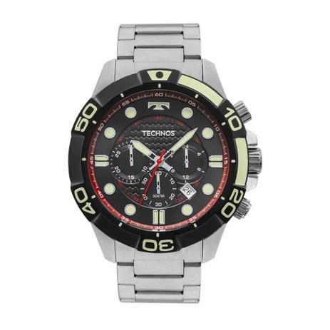 dd66c38a996 Relógio Masculino Technos Acqua Cronógrafo JS25BP 0P - Prata ...