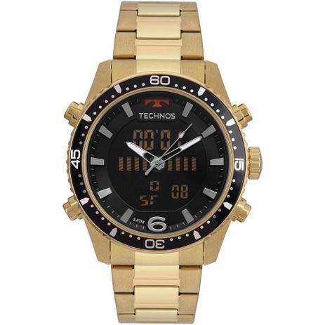 cd46f5e6281 Relógio Masculino Technos Anadigi BJK203AAD 4P Dourado - Relógio ...