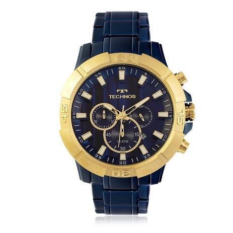 12f904a180a2b Relógio Masculino Technos Analógico JS26AF 4A Aço Azul - Relógio ...