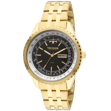 6b9c42a574a Relógio Masculino Technos Automático 8205NN 4P Pulseira Aço Dourada ...