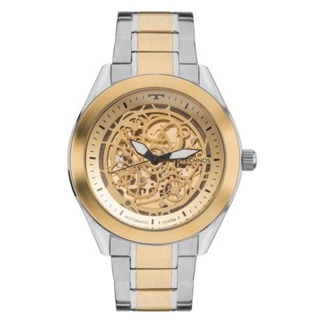 Relógio Masculino Technos Automático 8N24AJ 4X Prata Dourado ... de5eed63cc
