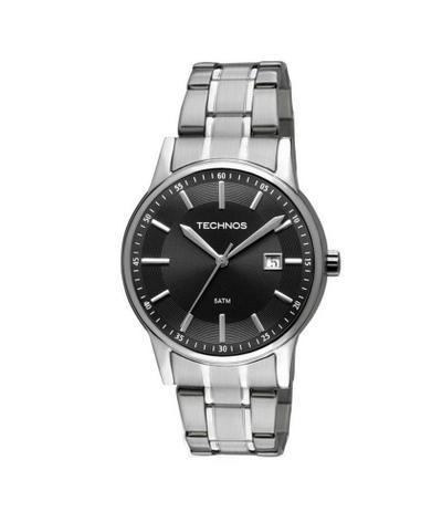 Relógio Masculino Technos Classic Steel 2115RO 1P 40mm Aço Prata ... d79284336b