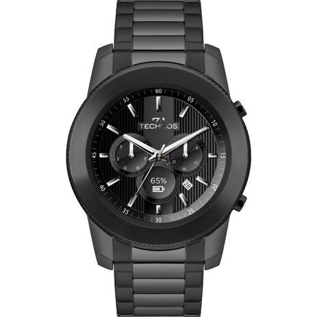 166a72594907c Relógio Masculino Technos Connect Smartwatch M1AB 4P Aço Preto ...