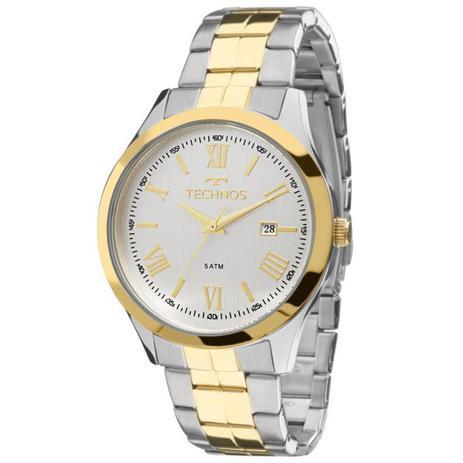 c13a5e0c603 Relógio Masculino Technos Elegance 2115MGN 5K - Prata Dourado ...