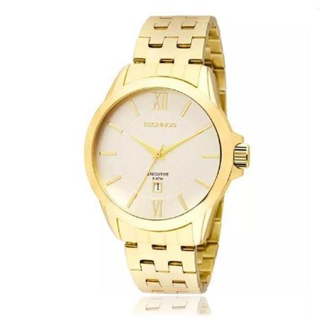 Relógio Masculino Technos Executive Analógico 2115KNI 4K Dourado ... 1a8fc52613