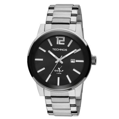 dd785a887c7 Relógio Masculino Technos Golf 2115TU 1P 45mm Aço Prata - Relógio ...