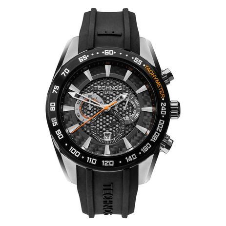 f6af95f39be37 Relógio Masculino Technos OS20HM 8P Carbon Pulseira Borracha ...