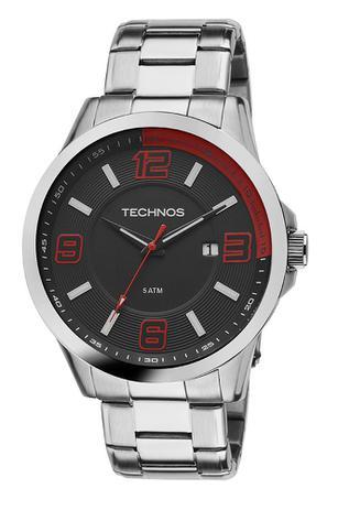 3e45071ecb0 Relógio Masculino Technos Racer Prata Analógico 2115KLM 1R - Relógio ...