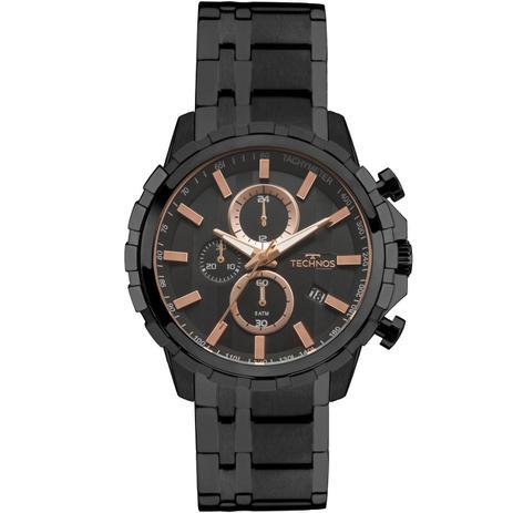 Relógio Masculino Technos Skymaster JS15FB 4P Pulseira Aço Fume ... 02fa2113ce