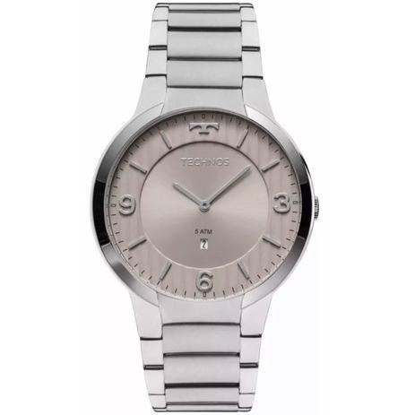 b403de107eb15 Relógio Masculino Technos Slim GL15AO 1C Prata - Relógio Masculino ...