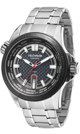 581448ba551 Relogio Masculino Technos Ts Carbon Hora Mundi 2115KNU1K - Relógio ...
