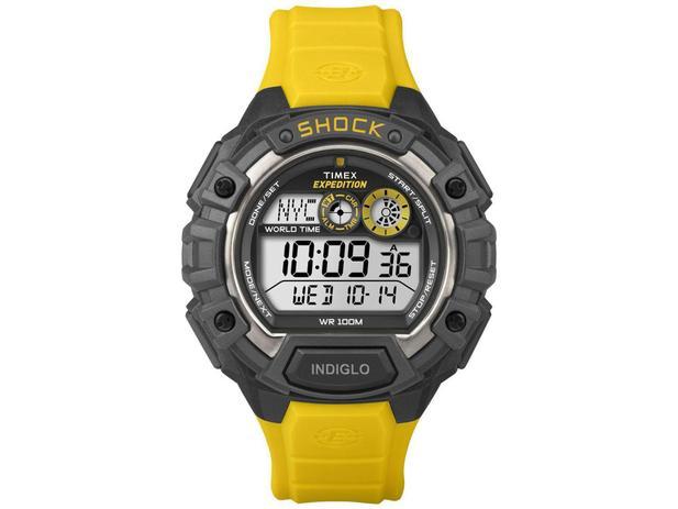 Imagem de Relógio Masculino Timex Digital   - Resistente à Água Cronômetro T49974WW