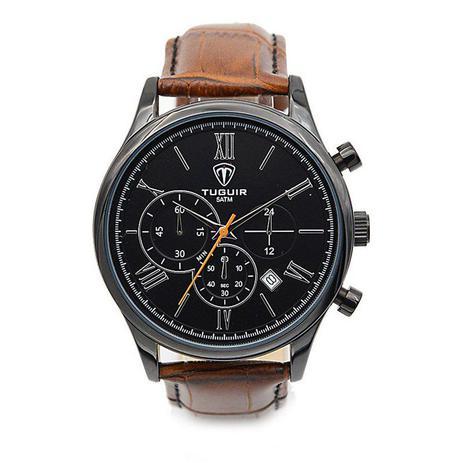 a0a3a3dc3b0 Relógio Masculino Tuguir Analógico 5006 Preto e Marrom - Relógio ...