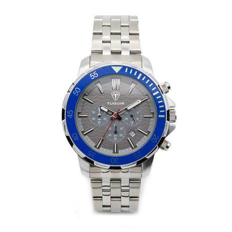 64b34eef23d Relógio Masculino Tuguir Analógico 5008 Prata e Azul - Relógio ...