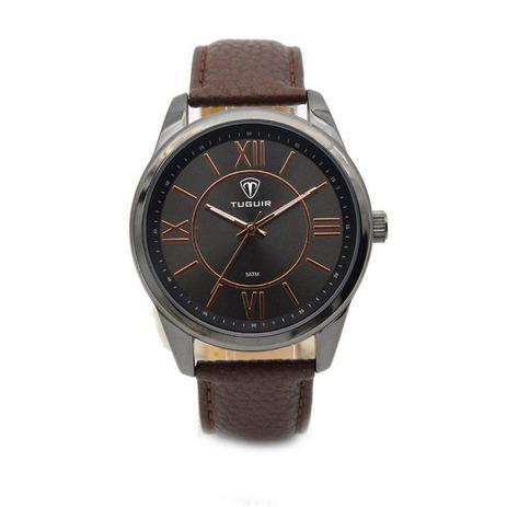 18d4f7b0277 Relógio Masculino Tuguir Analógico 5010 Preto e Marrom - Relógio ...