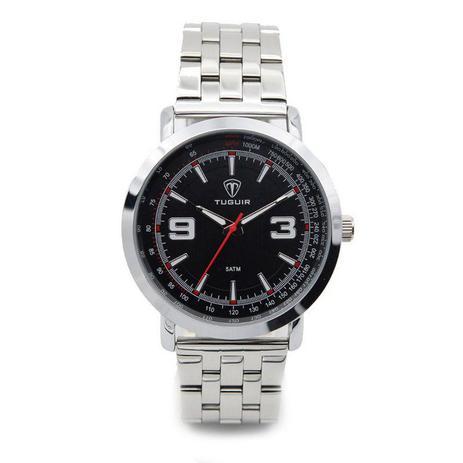 7fa4fd9b68a Relógio Masculino Tuguir Analógico 5040 Prata e Preto - Relógio ...