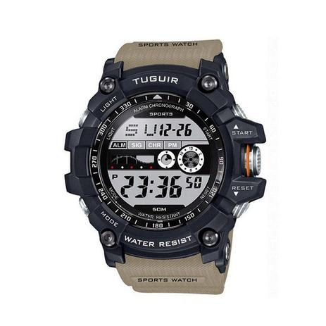 77cffd10ff0 Relógio Masculino Tuguir Digital TG6009 Bege - Relógio Masculino ...