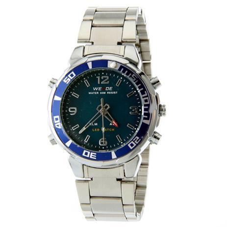 fd000fb523b Relógio masculino weide anadigi esporte azul wh-843 - Relógio ...
