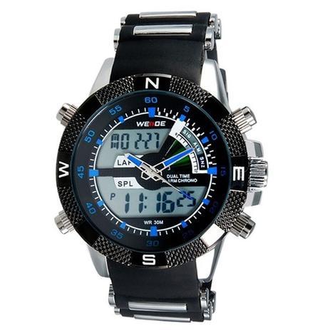 d2edf27a805 Relógio Masculino Weide AnaDigi Esporte WH-1104 Azul - Relógio ...