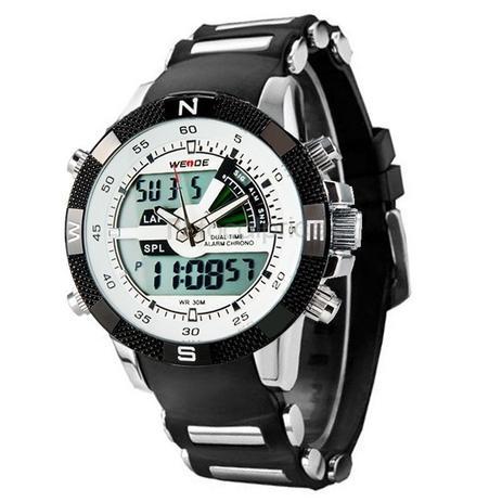 979e40b4620 Relógio Masculino Weide AnaDigi Esporte WH-1104 Branco - Relógio ...