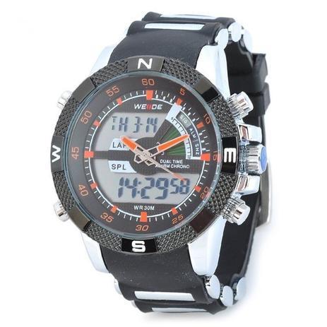 2cd0c32b54c Relógio Masculino Weide AnaDigi Esporte WH-1104 Laranja - Relógio ...