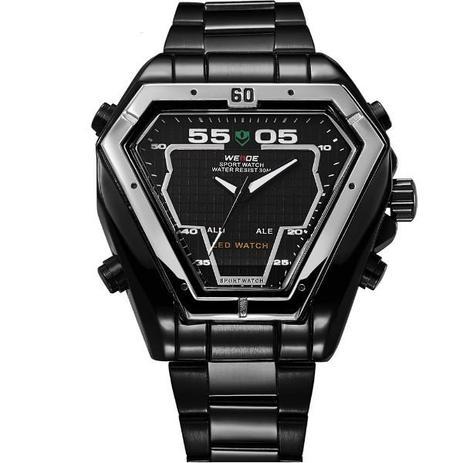 79238d85d87 Relógio Masculino Weide Anadigi WH-1102 PT - Relógio Masculino ...