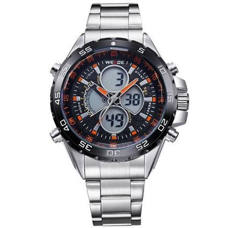 88f00f01baf Relógio Masculino Weide Anadigi WH-1103 Laranja - Relógio Masculino ...