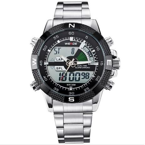 fac5a8df330 Relógio Masculino Weide Anadigi WH-1104 Preto - Relógio Masculino ...