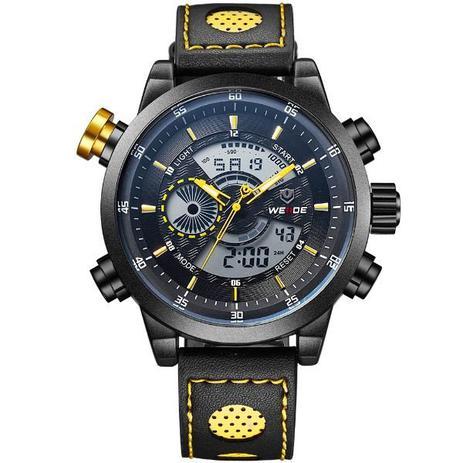 bda4aebdc44 Relógio Masculino Weide Anadigi WH-3401-C PT-AM - Relógio Masculino ...