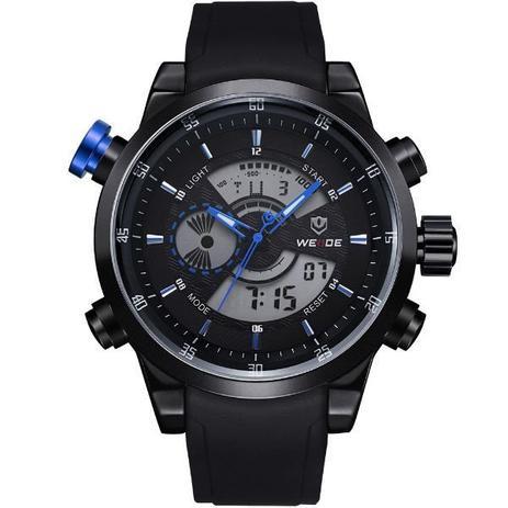 14d26f314 Relógio Masculino Weide Anadigi WH-3401 Preto e Azul - Relógio ...