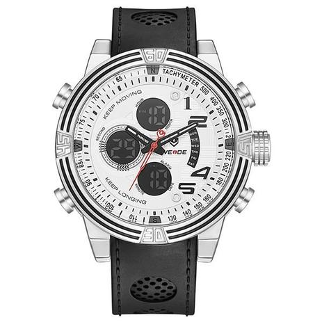 780383931133c Relógio Masculino Weide Anadigi WH-5209 Branco - Relógio Masculino ...