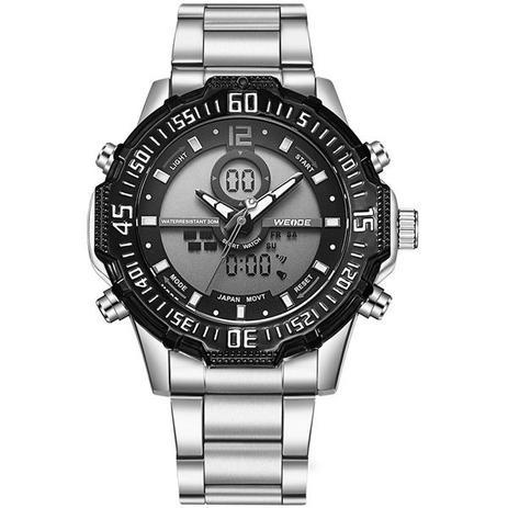 97cc4307f6a Relógio Masculino Weide Anadigi WH-6105 Cinza - Relógio Masculino ...