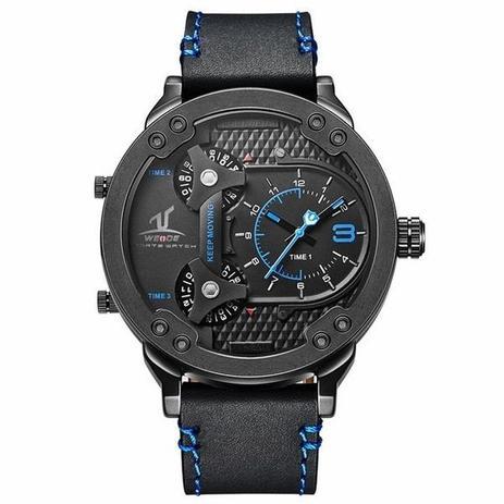 701216c674a Relógio Masculino Weide Analógico UV-1506 Preto e Azul - Relógio ...