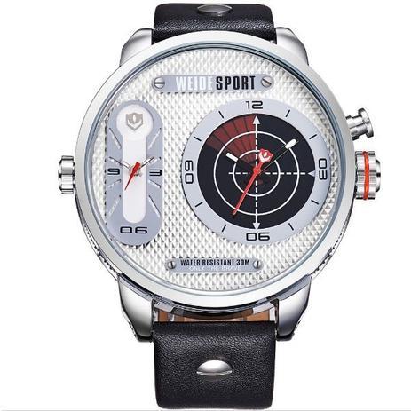 8fc902605bc Relógio Masculino Weide Analógico WH-3409 Prata e Branco - Relógio ...