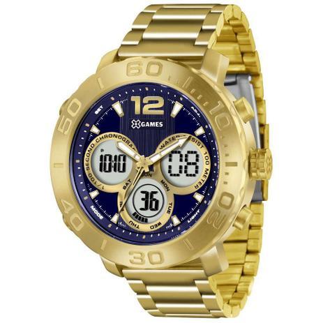 92fb27fd35d Relógio Masculino X-games Anadigi Xmgsa002 D2kx Dourado - Relógio ...