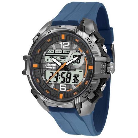 Relógio Masculino X-Games Anadigi Xmppa235 Bxdx - Prata Azul - Xgames fe6cfe04f0