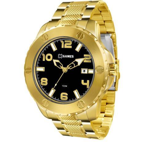 c282d240f6e Relógio Masculino X Games Xmgs1026 P2kx Big Case Dourado - Xgames ...
