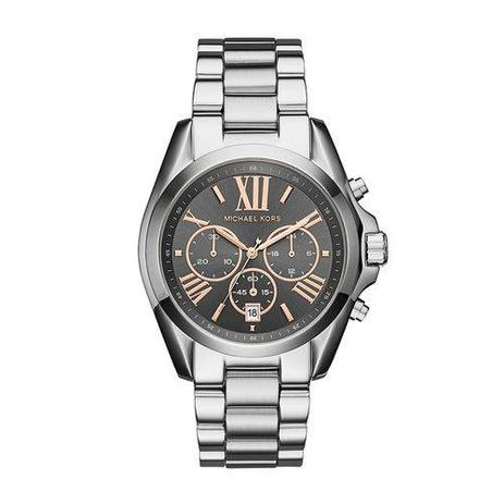670e3c9cf Relógio Michael Kors Feminino Bradshaw Prata - Mk6557/1kn - Relógio ...