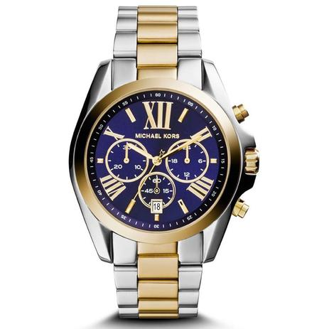 Relógio Michael Kors Feminino Ref  Mk5976 5an Cronógrafo Bicolor ... 9cf7f009d4