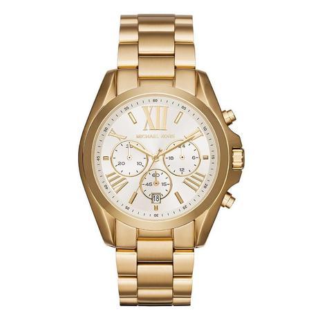 Relógio Michael Kors Feminino Ref  Mk6266 4bn Cronógrafo Dourado ... 4d027d5f33
