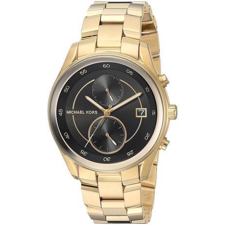 65acd05673c28 Relógio Michael Kors Feminino Ref  Mk6497 4pn Multifunção Dourado ...