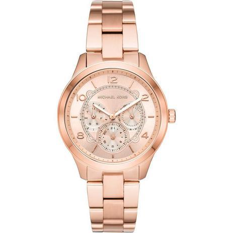 03aa854ef Relógio Michael Kors Feminino Ref: Mk6589/1jn Fashion Multifunção Rosé