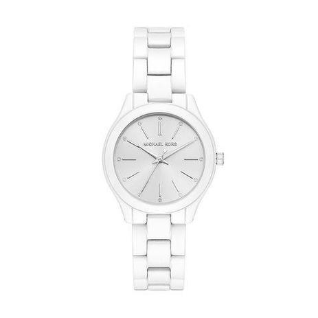 3967213e3 Relógio Michael Kors Feminino Slim Runway Branco - Mk3908/1kn ...