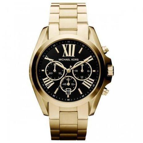 2d4c852a5 Relogio Michael Kors - Mk5739 Dourado fundo Preto - Relógio ...