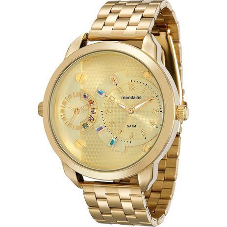 Imagem de Relógio Mondaine Feminino Dourado Moda 76544LPMVDE1