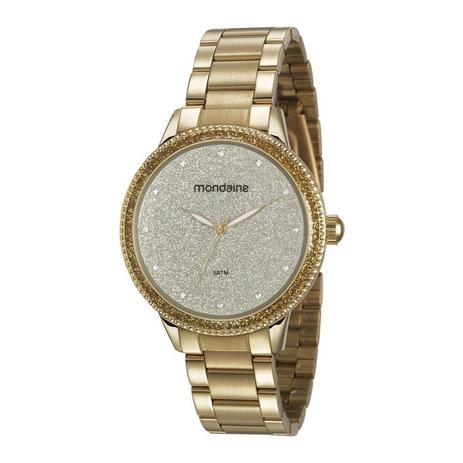 3442c47446a Relogio Mondaine Feminino Ref  53675lpmvde1 Fashion Dourado ...