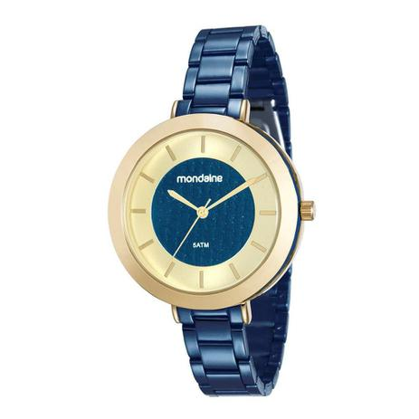 b9441fd4f9e38 Relogio Mondaine Feminino Ref  99172lpmvle3 Fashion Azul - Relógio ...