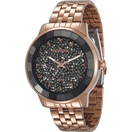 4e2b7c16c73 Relógio Mondaine Rose Luxo Pedras Swarovski No Mostrador